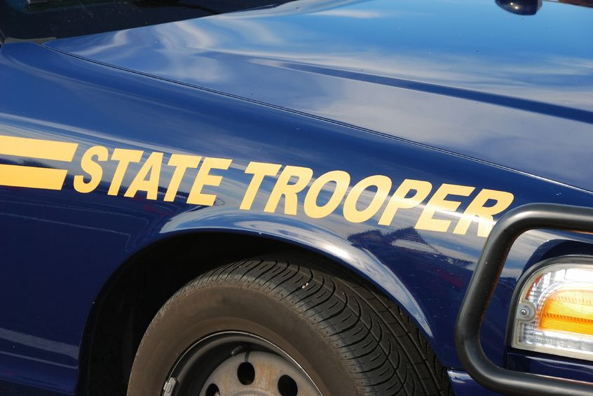 Close up of a state trooper cruiser.