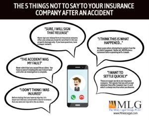 Five Things Not to Say to Your Insurance Company After an Accident
