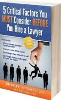 Things to Consider Before Hiring a Personal Injury Lawyer Book