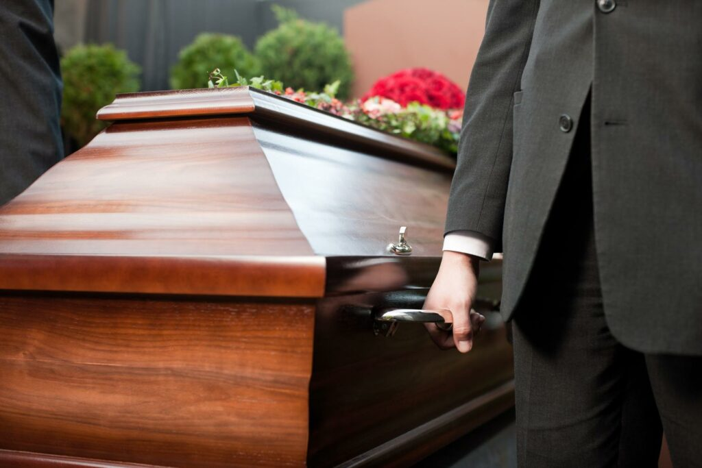 Family with Casket