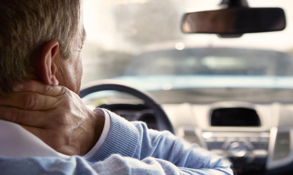 Man Headache in car